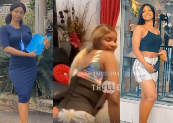 Iyabo Ojo's daughter, Priscilla Ojo loses home-training as she twerks in her mother's living room (Video)