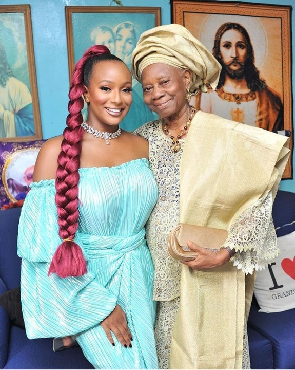See how Dj Cuppy's grandma, Lady Doja reacted after Cuppy told her about the new Lion pet (Video)