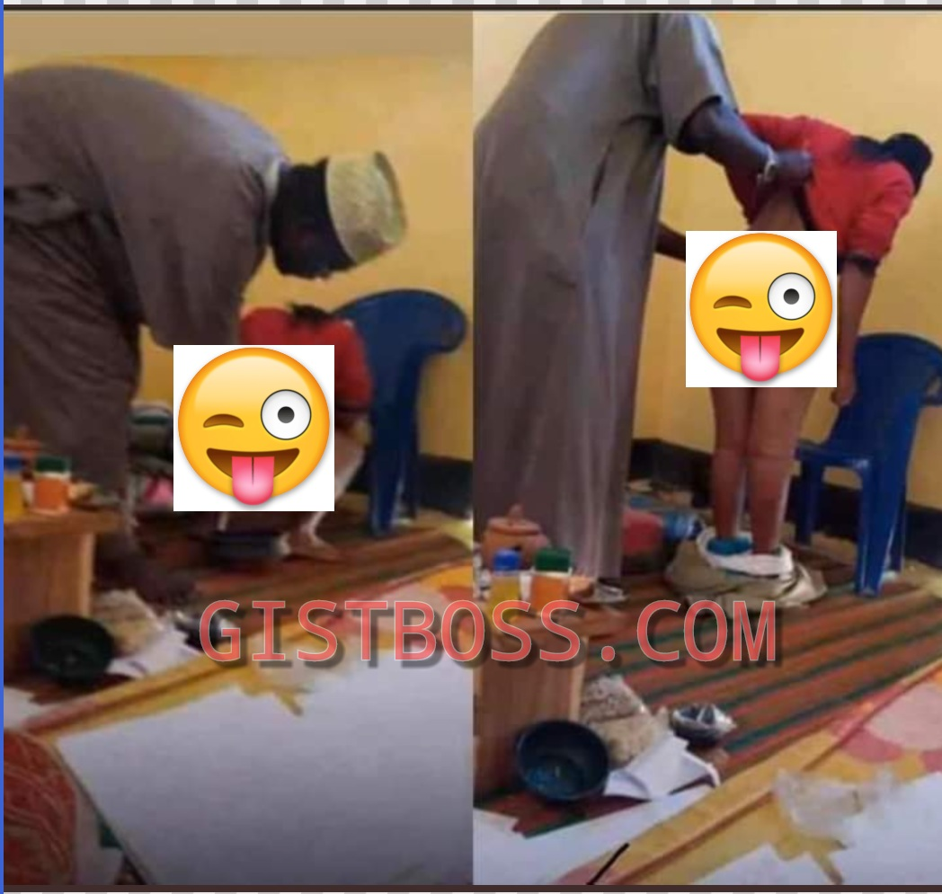 #DettyDecember: Viral of photos an Imam cooking the 'honeypot' of a Slay Queen so she can attract rich men
