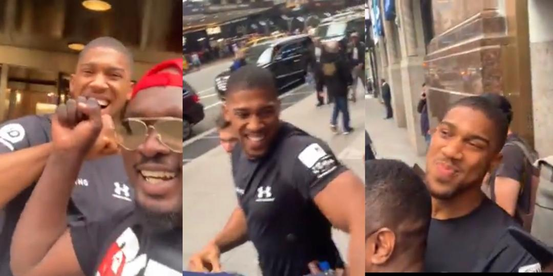 Watch viral video which suggests Anthony Joshua belongs to the Black Axe confraternity (Aye Men).