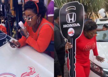 Anita Joseph burst into tears as she wins Honda Crosstour From Muma Gee's Gleeoflife (Video)