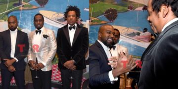 Kanye West forgives Jay Z after 5years beef, reunite at P.Diddy's 50th birthday Party (Photos)