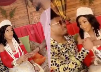 Mercy Eke and Ike Onyema get married in a private ceremony (Video)