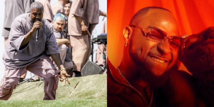 Nigerians react as Kanye West and his Choir samples Davido's 'IF' song (Video)