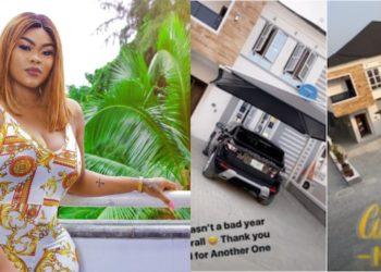 Actress Daniella Okeke buys a new house in Lekki, flaunts on social media (Photos)