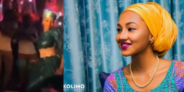 Presidential Groove! Buhari's Daughter, Zahra Buhari Spotted digging it low in a club