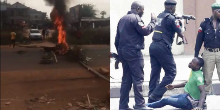 Chaos as FSARS accuse man of being a yahoo boy because he has soft fingers, chase him to his death (Video)