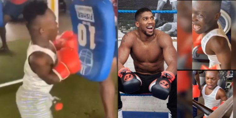 Shatta Bandle threatens to beat Anthony Joshua as he trains hard at the gym (Video)
