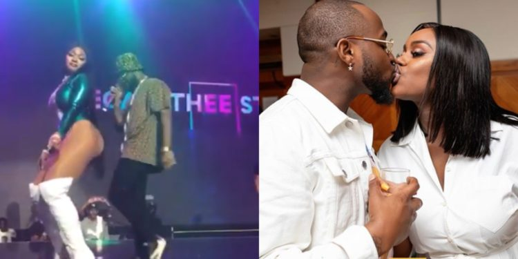 Chioma's jazz is strong- Nigerians react as Davido refuses to rock Megan from behind on stage (Video)