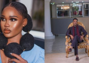 Cee-C sparks dating rumours with Rochas Okorocha's son, Amen as she attends his private birthday bash (Photos)