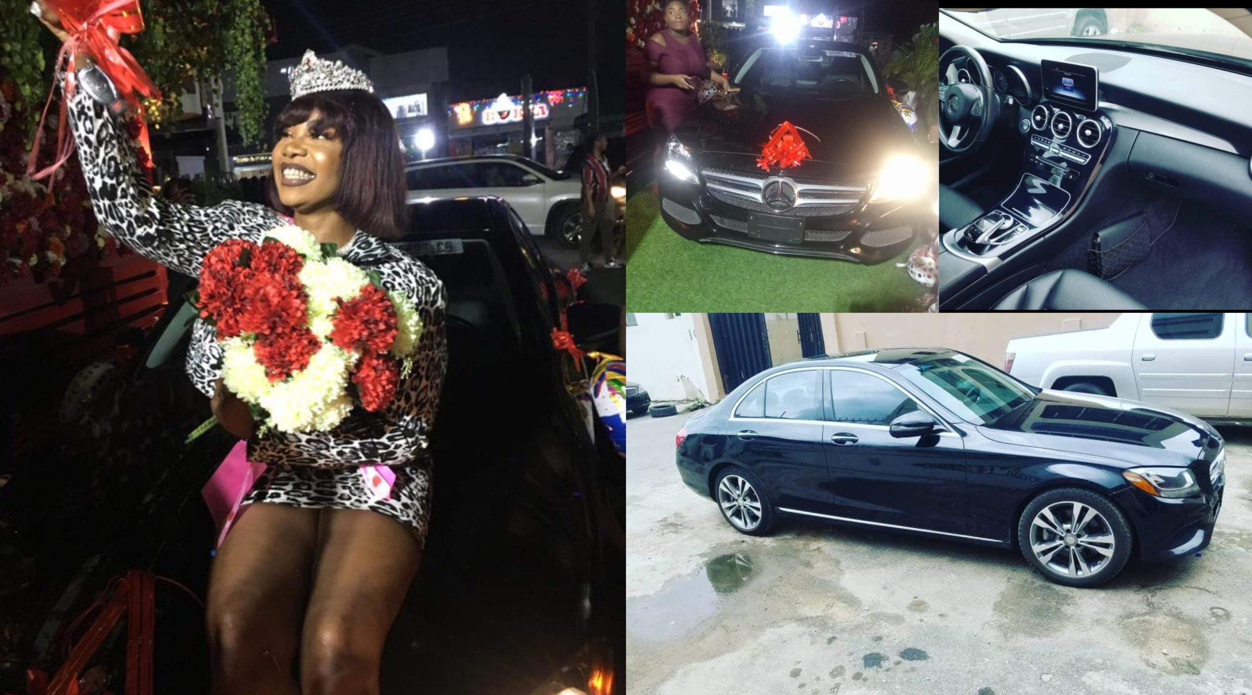 Tacha excited as fans surprise her with Brand new Mercedes Benz as birthday gift (Video, Photos)