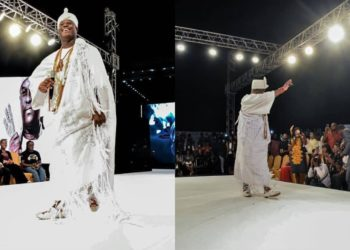 Ooni of Ife catwalks at fashion show in Lagos (Photos)