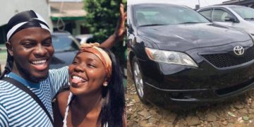 Lady buys a car for her boyfriend after saving N10,000 per week for 2 years (Photos)