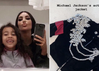 Kim Kardashian buys her daughter N24million Micheal Jackson's Jacket as Christmas gift (Photos)