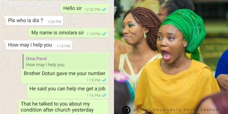 I love your big buttock - Church elder compliments church girl begging him for a job (Leaked WhatsApp chat)