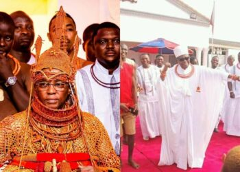 Oba of Benin spotted dancing shaku shaku during a children's party (Video)