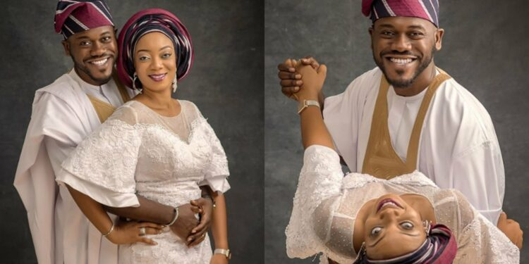 We just argued on who's finer - Actor Deyemi Okanlawon asks as he and wife celebrate 7years together (Photos)