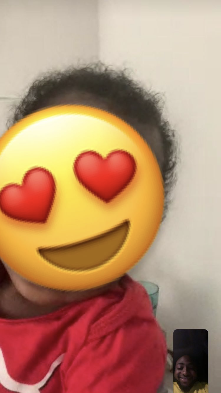 Daddy duties! Davido shares adorable picture of his video call With his son, Ifeanyi