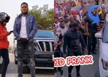 Hilarious prank video of fake Wizkid who got everyone going crazy at Ikeja City Mall