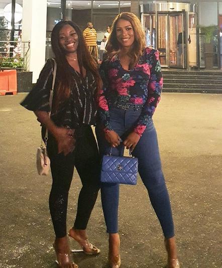 Beautiful sisters: Linda Ikeji pictured with her elder sister, Vera Ikeji (Photos)
