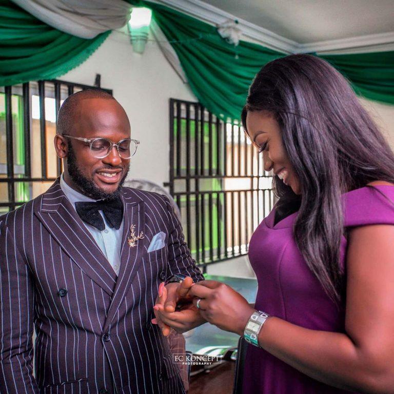 Comedian Igosave gets married to his longtime boo, Iyabo (Photos)