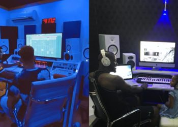 Peter Okoye shows off his remodeled Banana Island Private Studio (Photos)