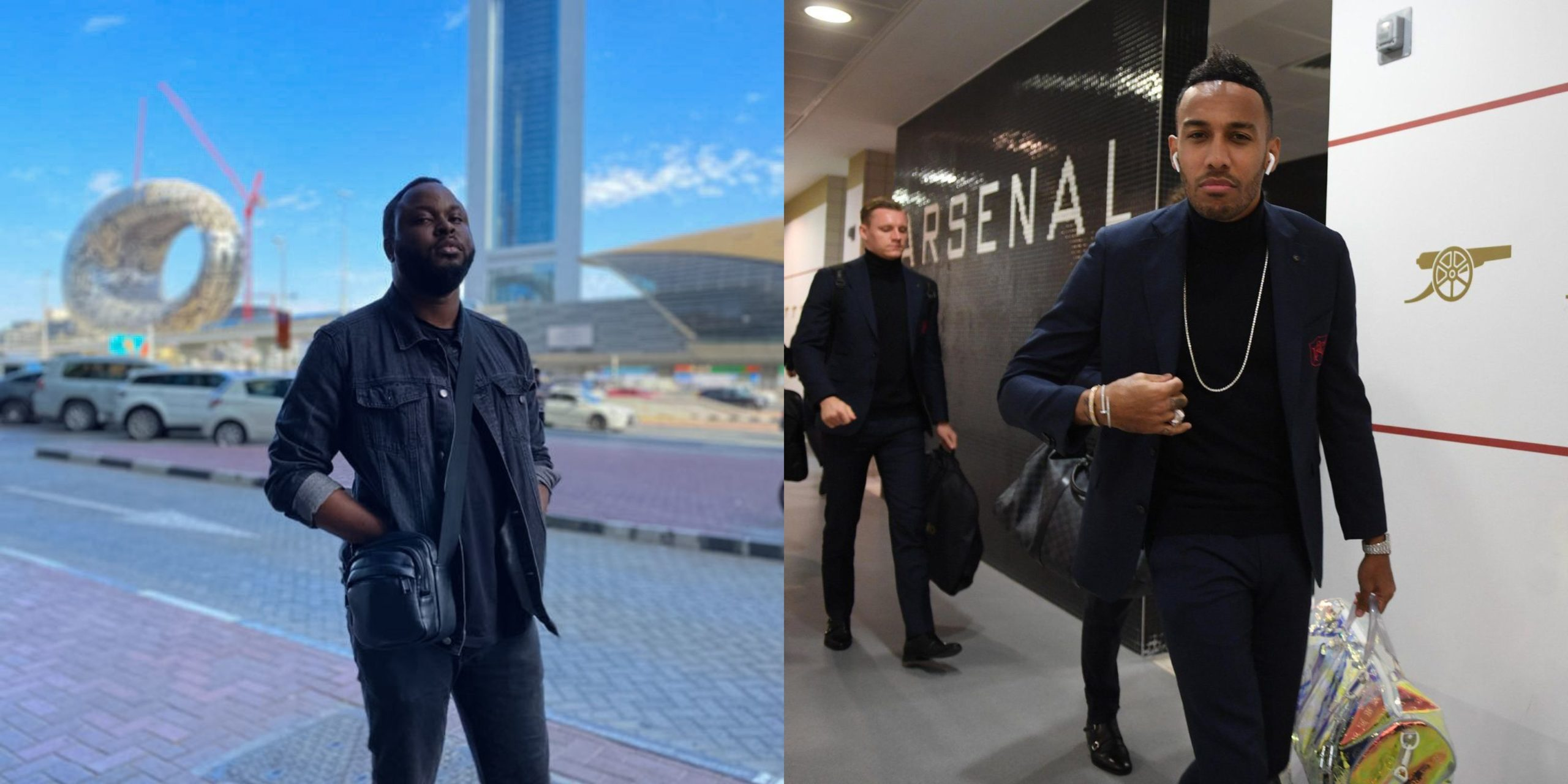 """""""Why she asking for money bro?""""- Nigerian man shares what his babe did when they met football star Aubameyang"""