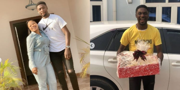 How Adeniyi Johnson almost ran out without trouser after wife, Seyi Edun, surprised him on his birthday (Video/ Photos)