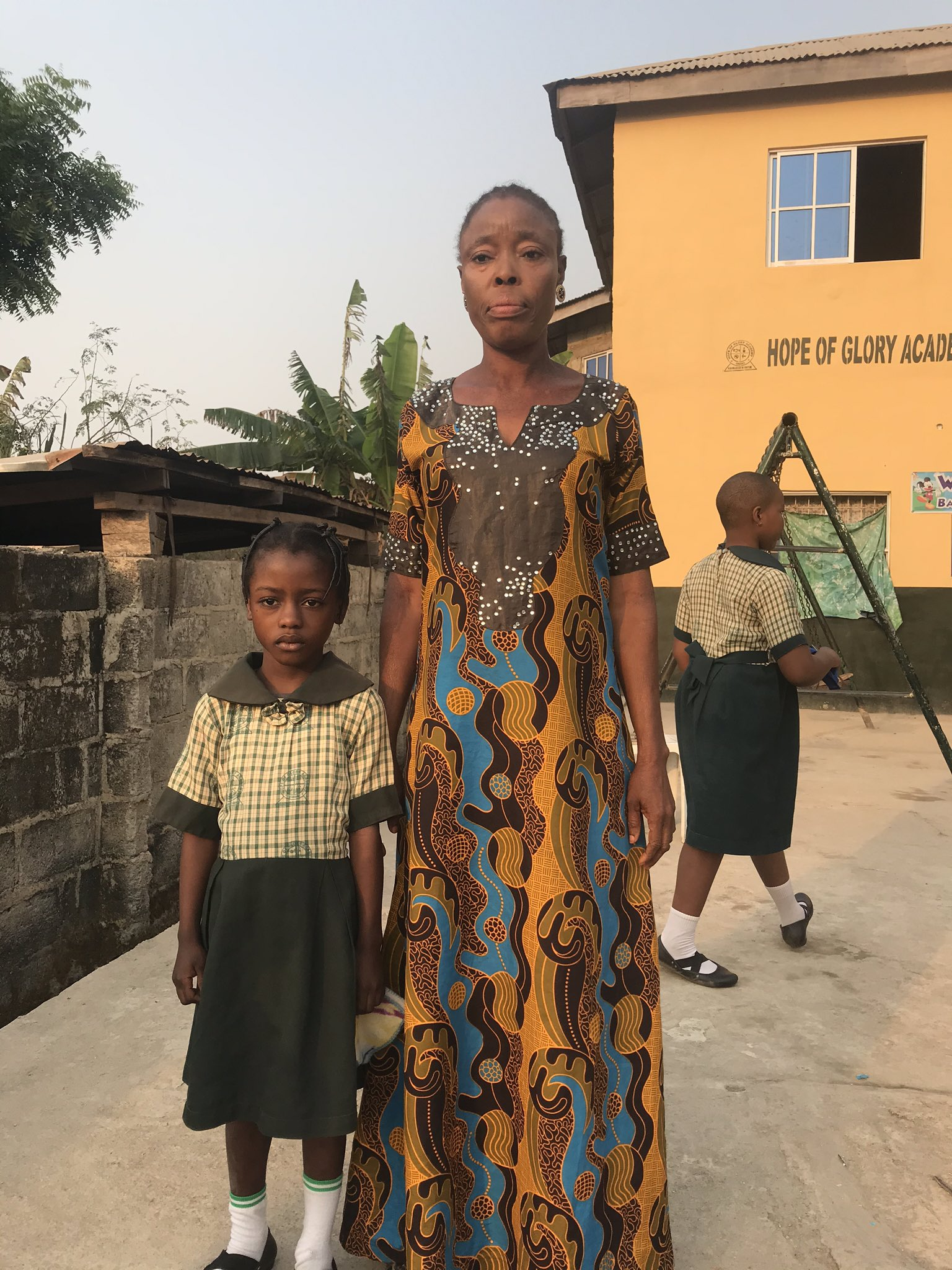 Little girl found reading at ATM gallery reportedly placed on scholarship, gets more donations from Nigerians (Photos)