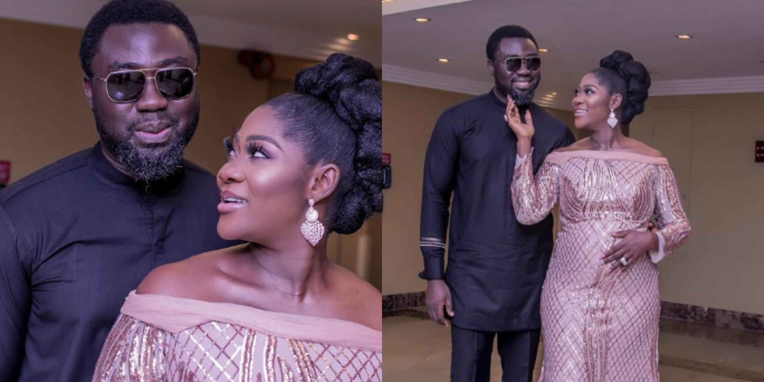 Pepper Dem! Mercy Johnson and her husband take PDA to another level as they celebrate Val (Video)