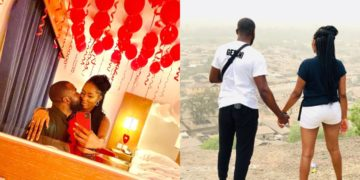 Soon-to-wed couple Khafi and Gedoni celebrate their last Valentine before marriage (Photos)