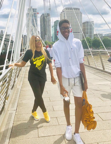 Kanu and Amara Nwankwo celebrate their son Sean Nwankwo as he turns 15