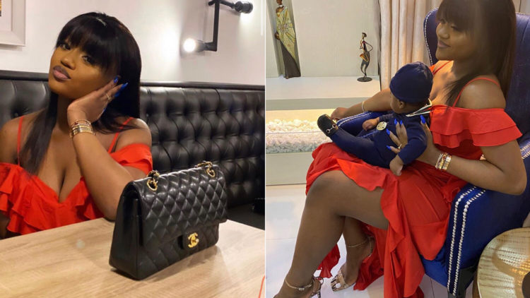 'Now I've got all I want in life' – Davido says as he shows off his fiancée and son
