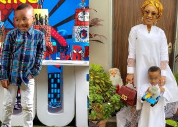 Tonto Dikeh a happy mother as her son King Andre turns 4 today