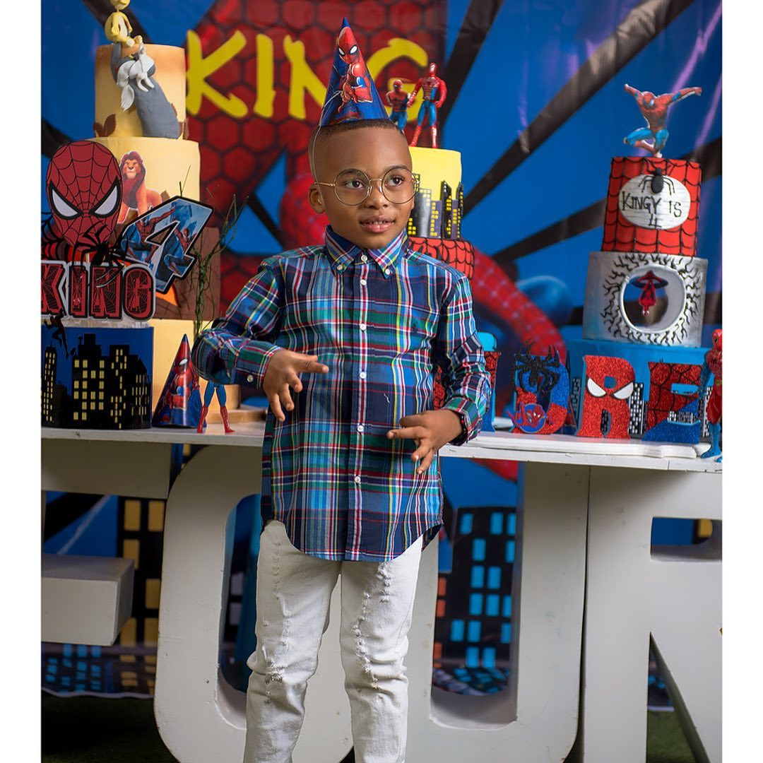 Tonto Dikeh a happy mother as her son King Andre turns 4 today, shares love birthday shoot (Photos)