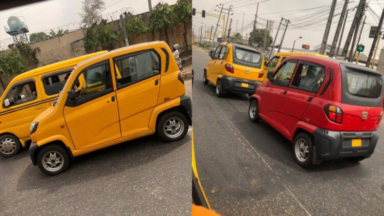 Reactions as new 'miniature vehicles' waddle the streets of Lagos (Photos)