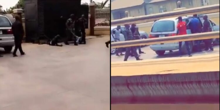 Drama as Soldiers beat up SARS officers who tried to raid Colonel's hotel (Video)