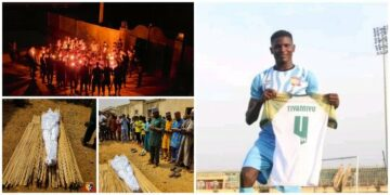 Tiamiyu Kazeem, former Remo Stars player, killed by SARS buried amid tears in Sagamu