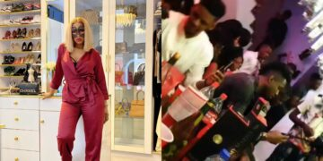Mercy Eke and Ike Onyema snub each other at Diane Russet's slumber party (Video)