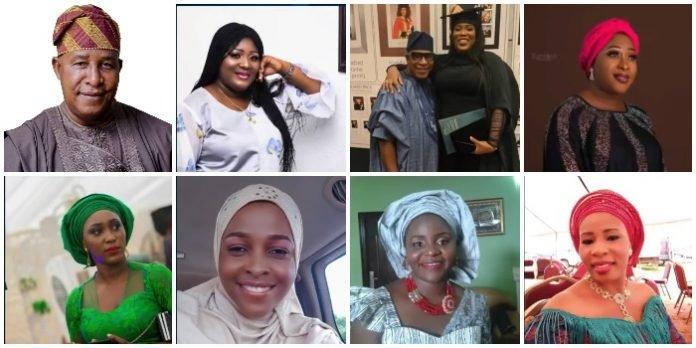 Meet the 9 beautiful daughters of veteran Yoruba actor Adebayo Salami 'Oga Bello' (Photos)