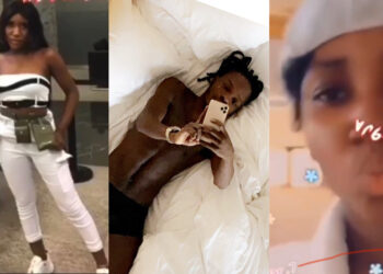 Girl who leaked Naira Marley's video slept with his crew member and sneaked into his bedroom for the video (Photos)