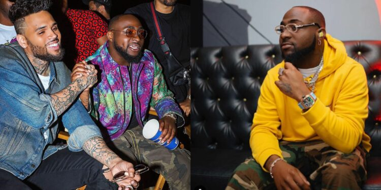 Chris Brown gives Davido a huge surprise, shows up unexpectedly to perform with him on stage (Video)