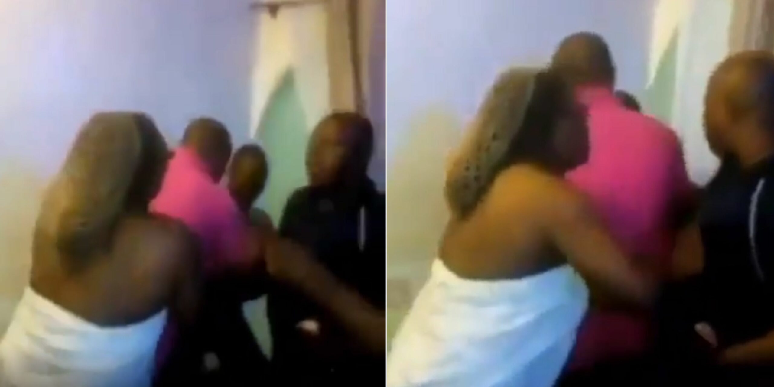 Husband's family catches wife sleeping with another man on her matrimonial bed