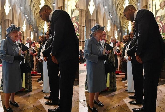 Watch Anthony Joshua's genuine humility on full display as he converses with the Queen