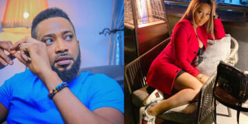 The chemistry never lies: Nollywood stars Frederick Leonard and Tana Adelana confuse fans with this new photo