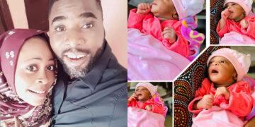 Yoruba actor Ibrahim Chatta and wife Welcome beautiful baby girl (Photos)