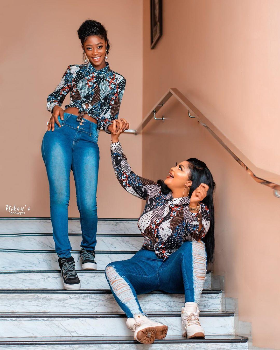 Actresses Biodun Okeowo & Iyabo Ojo celebrate their grown-up daughters who are birthday mates (Photos)