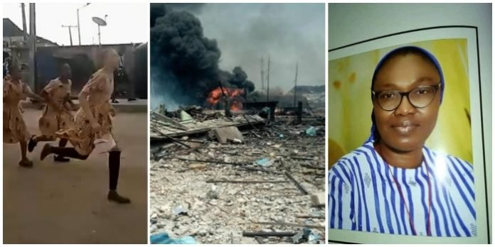 Principal of Bethlehem Girls College and two others dead at Abule Odo explosion (Video)