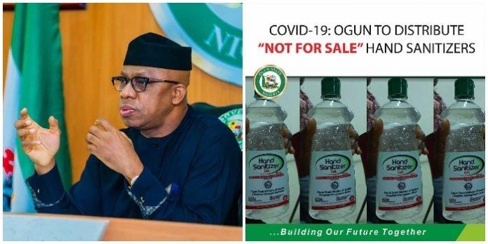 Ogun Begins mass Distribution of Hand Sanitizer