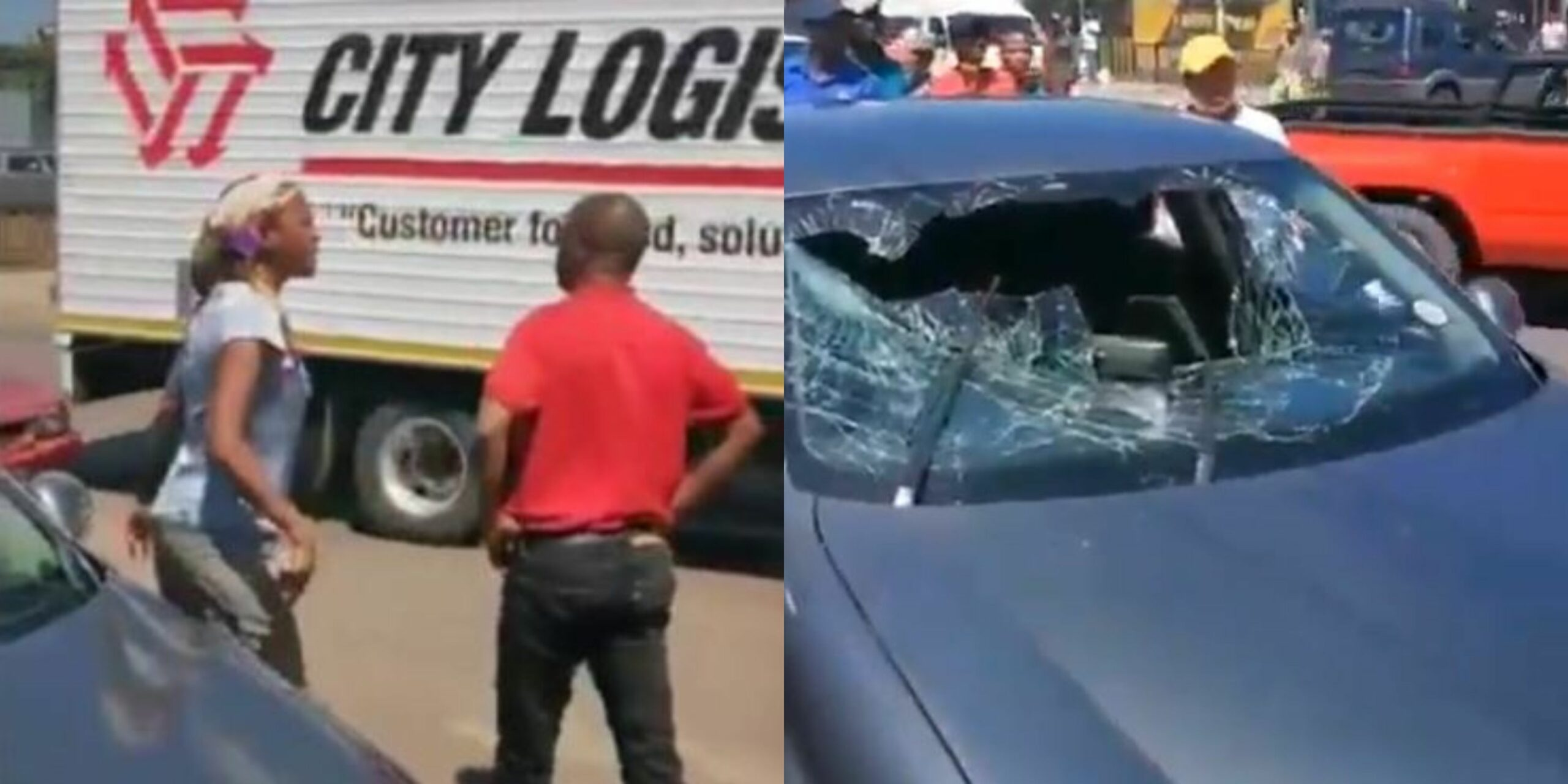 Woman destroys her husband's car after catching him with his girlfriend at a hotel (video)
